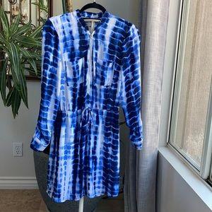 G byGuess M blue and white rye dye dress